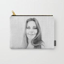 Floor Jansen Pencil Portrait. Carry-All Pouch