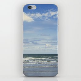 Blue sky, blue sea iPhone Skin