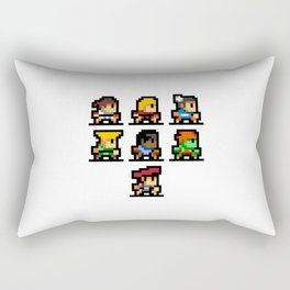 Minimalistic - Street Fighter - Pixel Art Rectangular Pillow