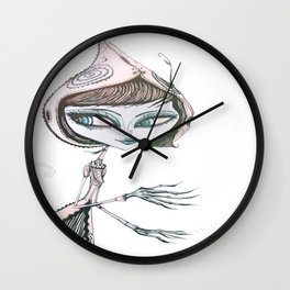 mrs wolf Wall Clock