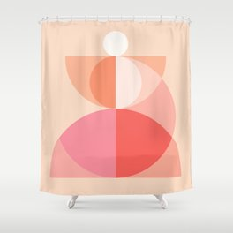Abstraction_Geometric_Circles_MInimalism_001 Shower Curtain