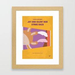 No889 My Jay and Silent Bob Strike Back minimal movie poster Framed Art Print