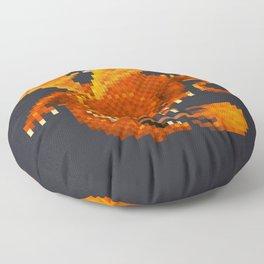 Pixel Fiery Dragon Floor Pillow