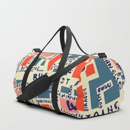 paris map blue Duffle Bag