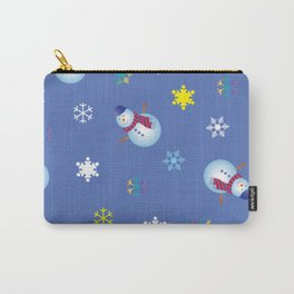 Snowflakes & Snowman_C Carry-All Pouch