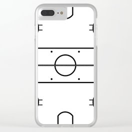 Ice Hockey Rink Clear iPhone Case