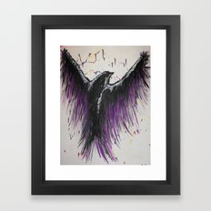 Royal Purple Soaring Bird Framed Art Print
