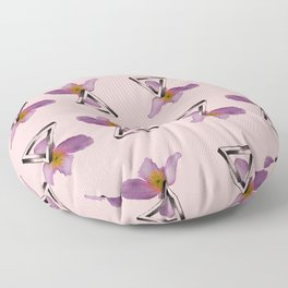 Floral Triangles - Pink Floor Pillow