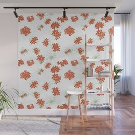 Red Jasmine Flowers Wall Mural