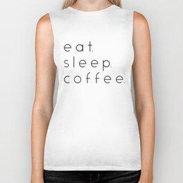 EAT SLEEP COFFEE Biker Tank