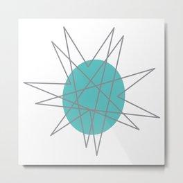 Mid Century Modern, Atomic Age Nuclear Star Burst Metal Print