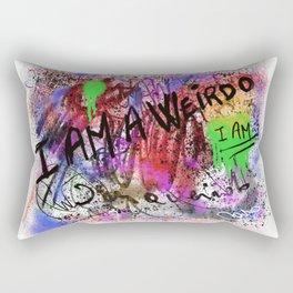 Metaphysical Penguin I AM A WEIRDO Rectangular Pillow