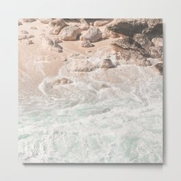 Blue Waves Ocean Photo Print | Summer Beach Colors Sea Tropical Art | Bali Coast Travel Photography Metal Print