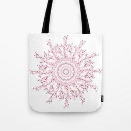 Cherry Blossoms Mandala Tote Bag