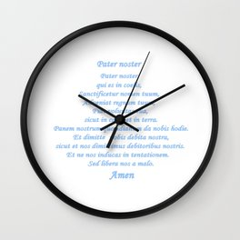 Pater noster Wall Clock