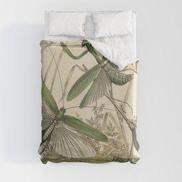 Grasshopper & Mantis Duvet Cover