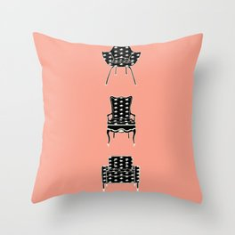 Cat Chairs Throw Pillow