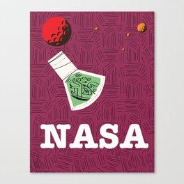 Vintage NASA Space poster Canvas Print