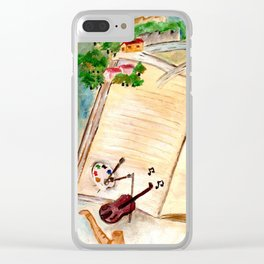 Books and imagination Clear iPhone Case