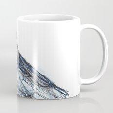 Crow with Blue Mug