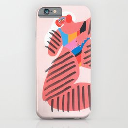 Long Hair Don't Care iPhone Case