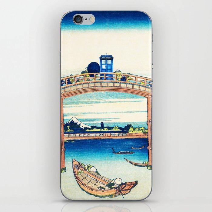 Tardis At The Bridge iPhone Skin