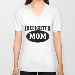 Firefighters mom Unisex V-Neck