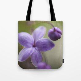 Purple Three Tote Bag