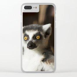 Lemur Catta Clear iPhone Case