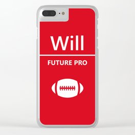 Will Future Pro - Red and White Clear iPhone Case