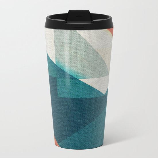 Sailing Origami Sea Metal Travel Mug