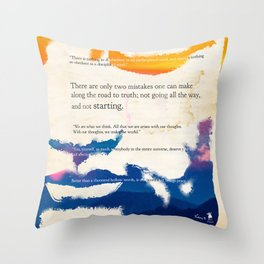 GUATAMA BUDDHA Throw Pillow