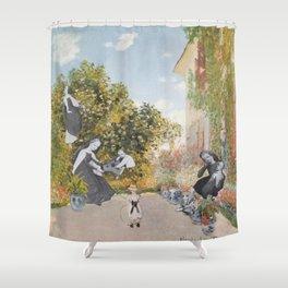 A Fine Day a la Monet Shower Curtain