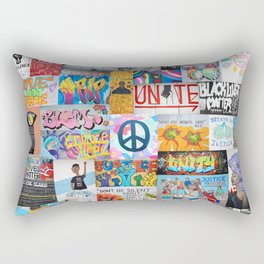 Black Lives Matter Street Art Rectangular Pillow