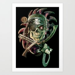 TecnoPirate Skull Art Print
