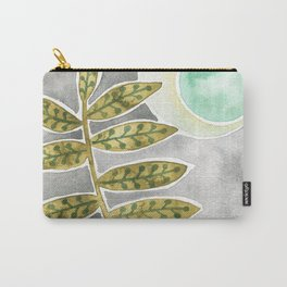 Mint Moon and Leaves Carry-All Pouch