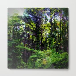 Vine Wrapped Forest Metal Print