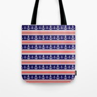 anchors Tote Bags featuring anchors by Manoou