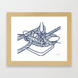 Knotical (WHITE) Framed Art Print