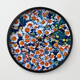 chrydsanthemum Wall Clock