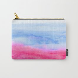 Pink Abstract Watercolor Carry-All Pouch