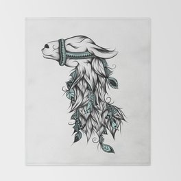Poetic Llama Throw Blanket