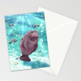 Manatees Stationery Cards