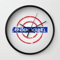 velvet underground Wall Clocks featuring Underground by eARTh