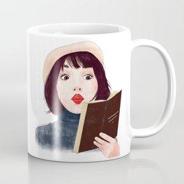 French woman with book Coffee Mug