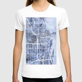 Chicago City Street Map T-shirt