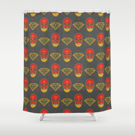 Skull Diamond Shower Curtain