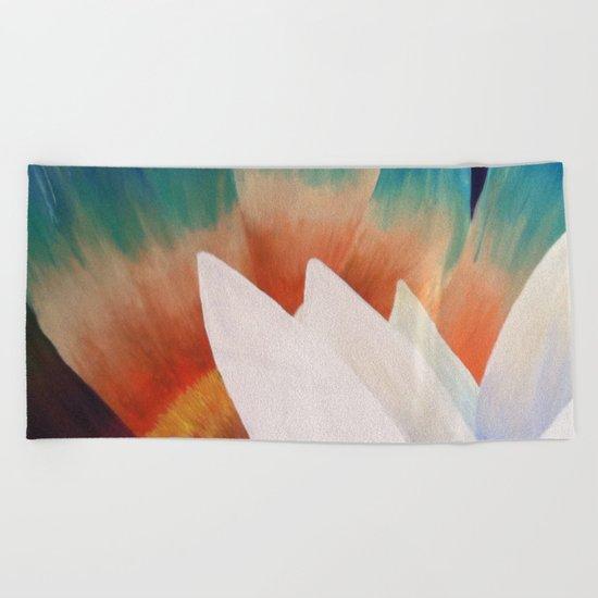 Juxtaposed Flowers   Beach Towel
