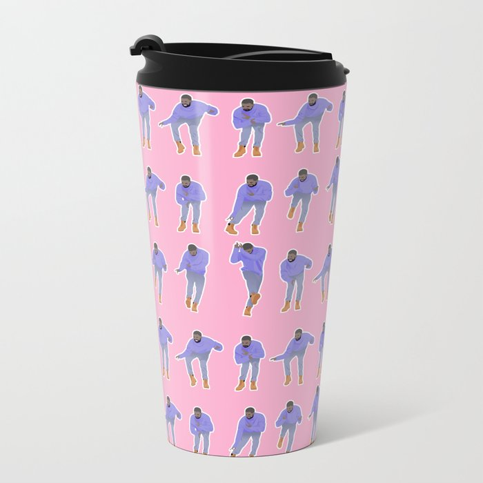 Hotline bling (pink) Metal Travel Mug