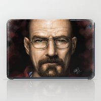 walter white iPad Cases featuring Walter White by NikkiBeth